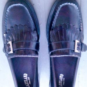 Eastland Leather Buckle Kiltie Loafers-Sz …